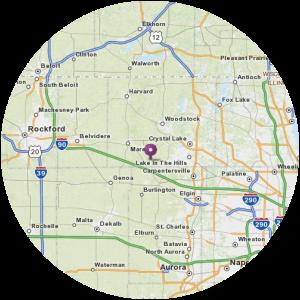 30 Mile Service Area Around Rockford, IL