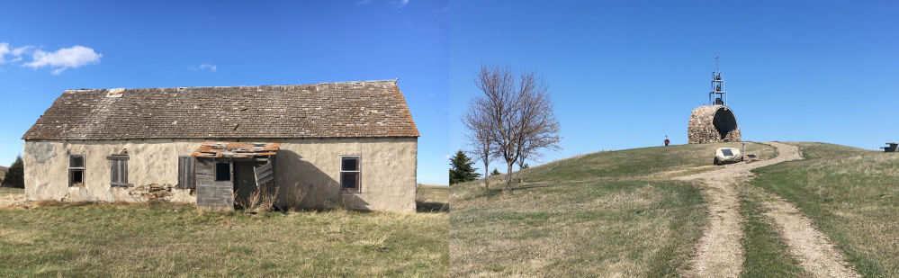Old Sod House & Prairie Bells Grotto Near Linton ND